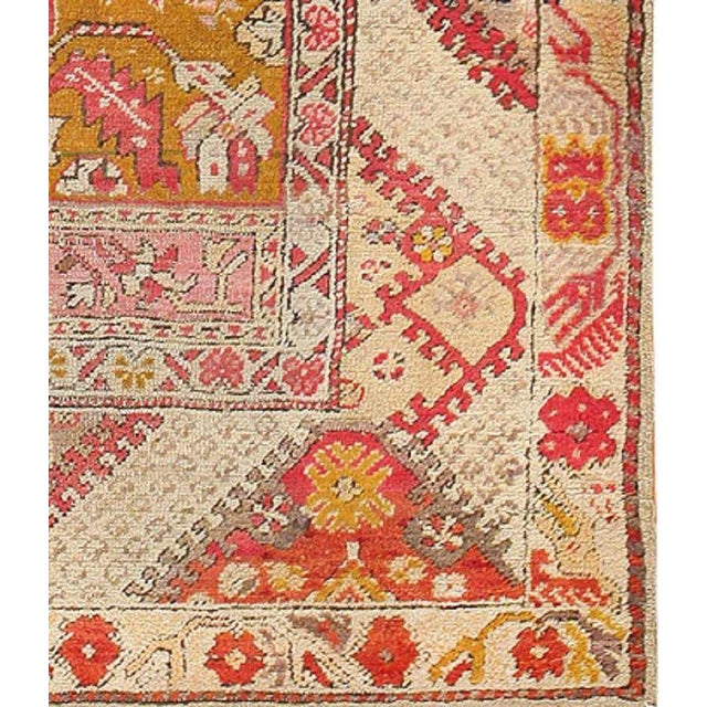 Early 20th Century Antique Turkish Ghiordes Rug For Sale - Image 5 of 7