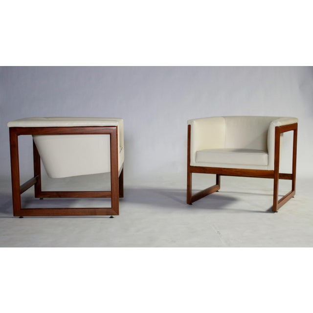 Milo Baughman Floating Cube Club Chairs For Sale - Image 10 of 10