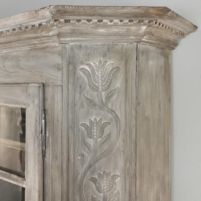 Mid 19th Century 19th Century Country French Rustic Whitewashed Bookcase ~ Cabinet For Sale - Image 5 of 13