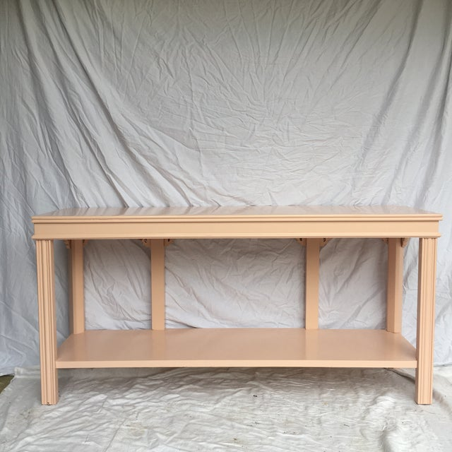 Wood Pink Lacquered Console by Lane For Sale - Image 7 of 8