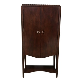 Contemporary Mahogany Bar Wall Unit For Sale