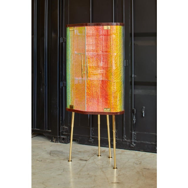 Crazy Dry Bar by Artist Troy Smith - Contemporary Design - Artist Proof - Custom Furniture - Limited Edition For Sale - Image 6 of 10