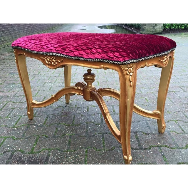 Bed Bench in Louis XVI Style with Gold Leaf - Image 2 of 6