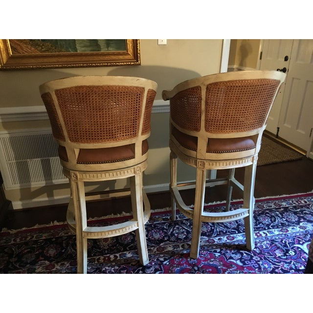 4 Swivel Bar Stools by Pama of High Point, Nc For Sale - Image 10 of 10