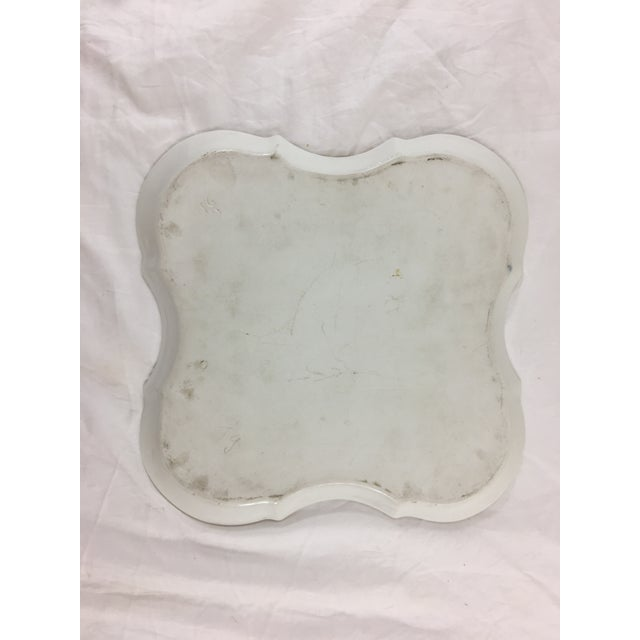 French Provincial Old Paris Ogee Form Platter For Sale - Image 3 of 5