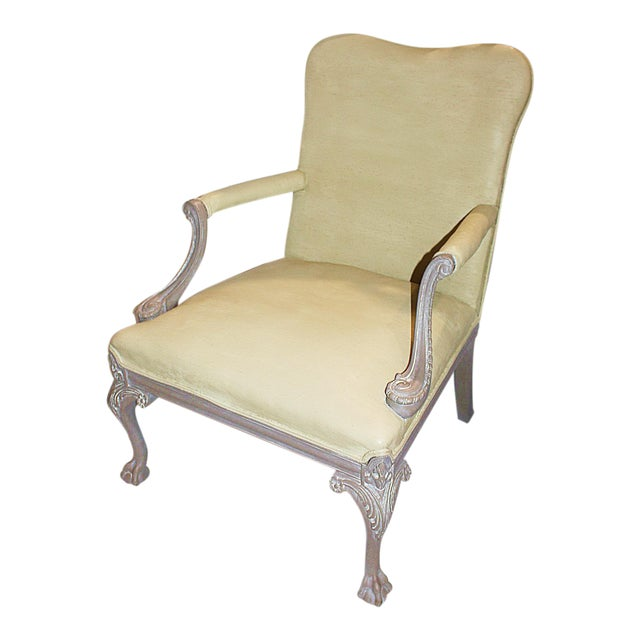 Carved Chippendale-Style Armchair - Image 1 of 8