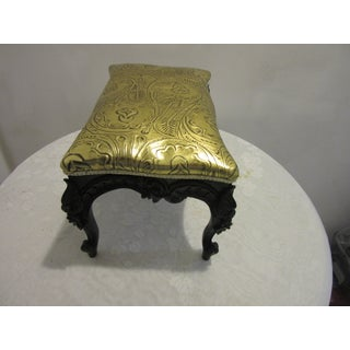 1970s Modified Lacquered Mahogany Footstool Preview