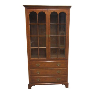 Baker Milling Road Chippendale Breakfront Hutch For Sale