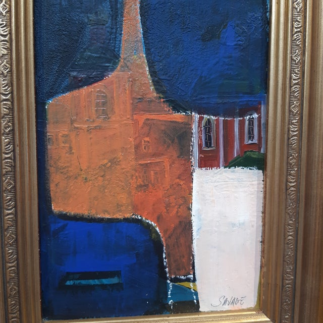 Abstract painting by Palm Spri is artist Shawn Savage. Abstract over vintage painting with just a peek of the painting...