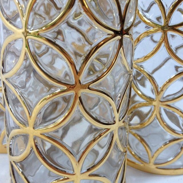 Hollywood Regency Imperial Glass 24KT Gold Glassware - Set of 4 For Sale - Image 3 of 6