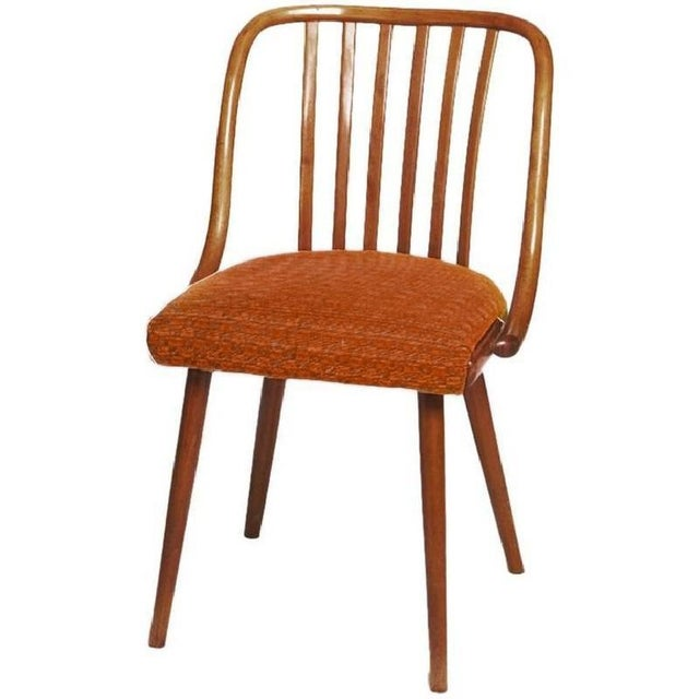 Mid-Century Upholstered Chair by Antonin Suman for Ton, 1965 For Sale - Image 5 of 5