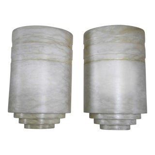 Spanish Art Deco Marble Sconces - a Pair For Sale