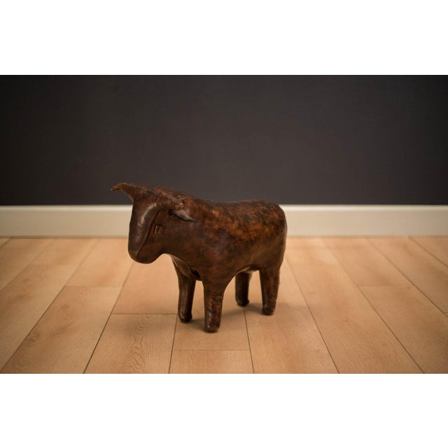 Mid Century Abercrombie and Fitch Leather Bull by Dimitri Omersa For Sale - Image 10 of 10