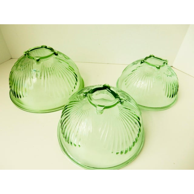 Depression Glass Mixing Bowls - Set of 3 For Sale - Image 5 of 7