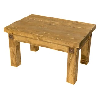 Rustic Live Edge Coffee Table For Sale