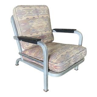 1930s Art Deco Machine Age Aluminum Tubular Chair For Sale