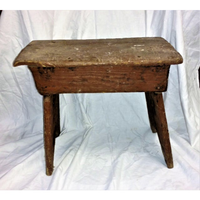 Primitive Cricket Farm Stool For Sale - Image 5 of 7
