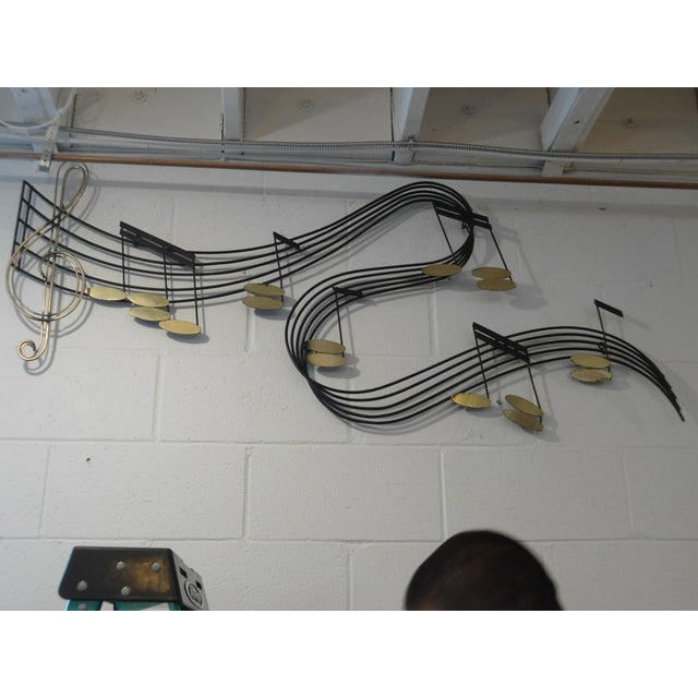 Curtis Jere Metal Musical Notes Wall Sculpture - Image 2 of 4