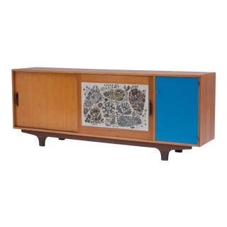 Modernist Sideboard With Perignem Ceramic and Macassar Details For Sale