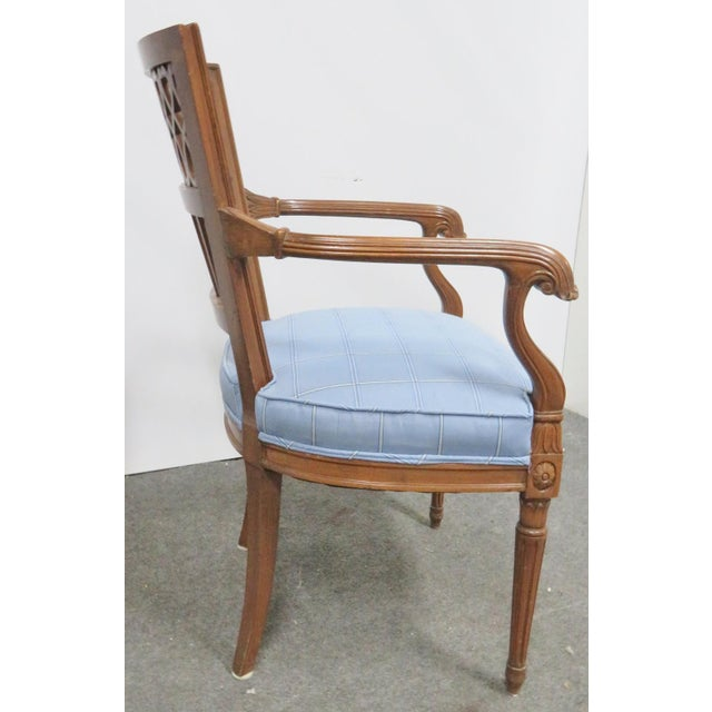 Italian Style Carved Fruitwood Arm Chair For Sale In Philadelphia - Image 6 of 7