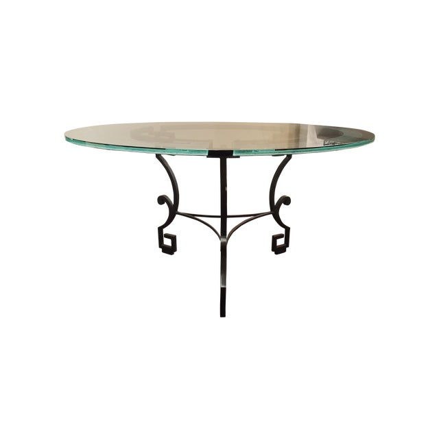 Circular Glass Dining Table - Image 1 of 4