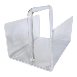Mid-Century Lucite Magazine Rack For Sale