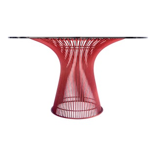 Rare 1970s Knoll Warren Platner Wire Dining Table For Sale
