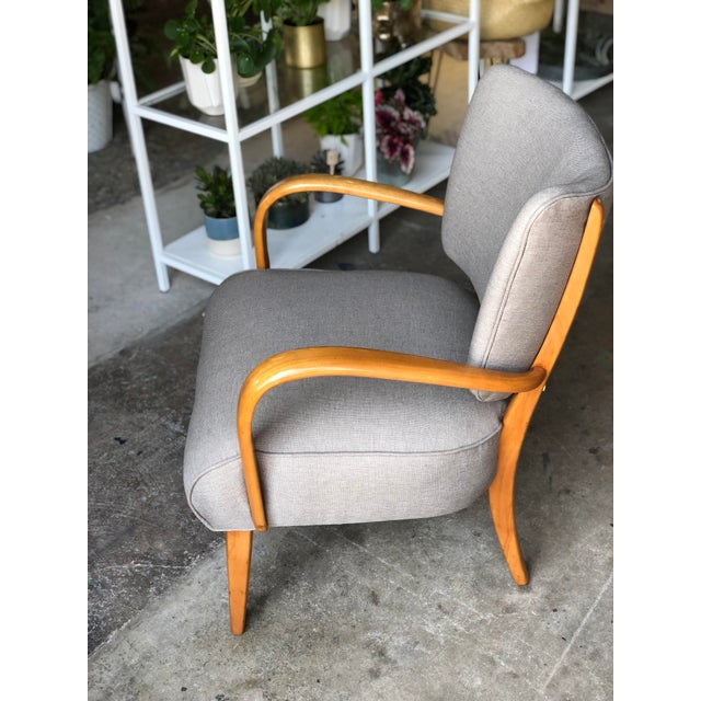 Mid-Century Modern Mid Century Modern Heywood Wakefield Birch Frame Arm Chair For Sale - Image 3 of 9