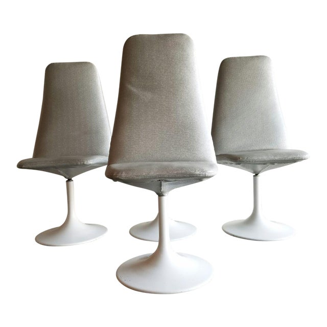 Vintage Tulip Swivel Chairs - Set of 4 For Sale