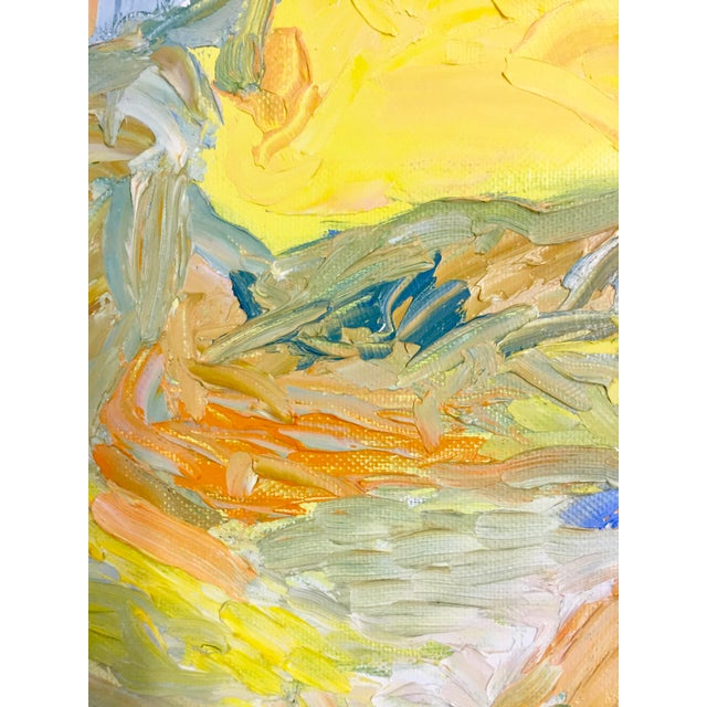 1970s Abstract Juan Guzman Palm Trees Landscape Oil Painting For Sale In San Francisco - Image 6 of 10