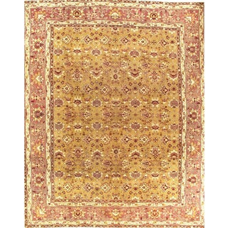 "Pasargad N Y Antique Fine Agra Hand-Knotted Rug - 10'7"" X 13'"
