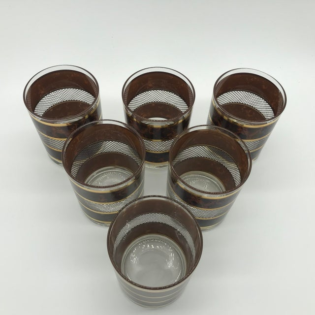 Metal Vintage Georges Briard Old Fashioned Cocktail Glasses Set of 6 For Sale - Image 7 of 12