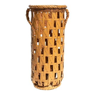 Early 20th Century Japanese Cylinder Basket For Sale