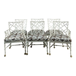 Phyllis Morris Designed Cast Aluminum Dining Chairs - Set of 6 For Sale