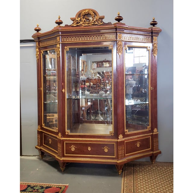 Furniture Home & Garden Mahogany French Antique Style Tall Wine Cupboard Cabinet