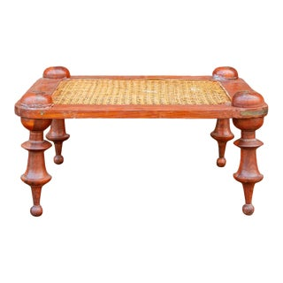 Sri Lankan Colonial Cane Stool For Sale