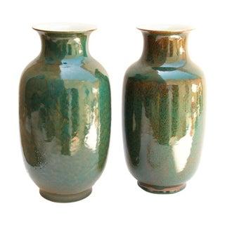 Ceramic Lantern Vases - A Pair For Sale