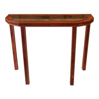 1970s Red Tile Console Table