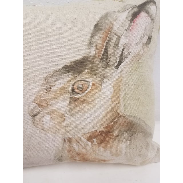 Rabbit Pillow - Made in Wales, United Kingdom This pillow was made in Wales, U.K., by a small cottage...
