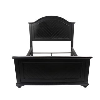 Contemporary Painted Wood Queen Size Bed Frame For Sale