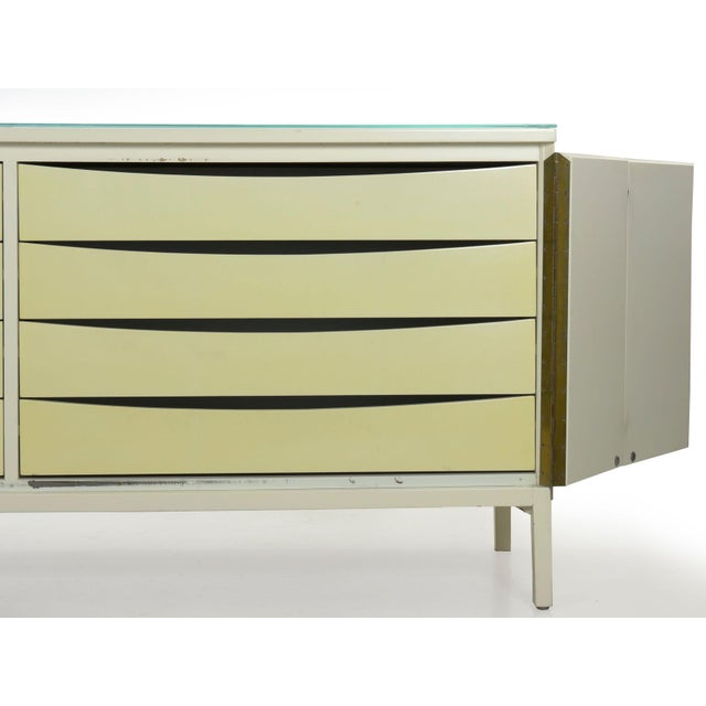 Vintage Modern White Lacquer Cabinet Credenza With Eight Drawers Circa 1980s For Sale - Image 10 of 13