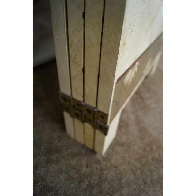 Vintage Chinoiserie Painted Folding Screen - Image 10 of 10