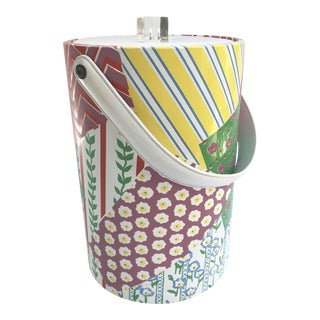 Vintage Patchwork Vinyl Ice Bucket