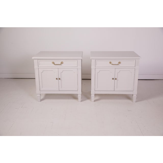 Mid-Century Modern Baker Furniture Grey Nightstands - a Pair For Sale - Image 12 of 12