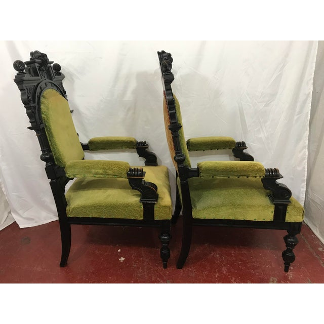 Russian Imperial Renaissance Revival Throne Chair For Sale - Image 6 of 10