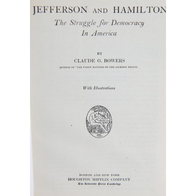 "Booth & Williams 1925 ""Slipcased Edition, Thomas Jefferson, S/3"" Collectible Book For Sale - Image 4 of 6"