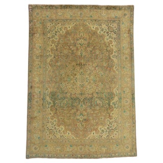 Vintage Persian Tabriz Area Rug With Arts & Craft Style - 8′5″ × 12′ For Sale