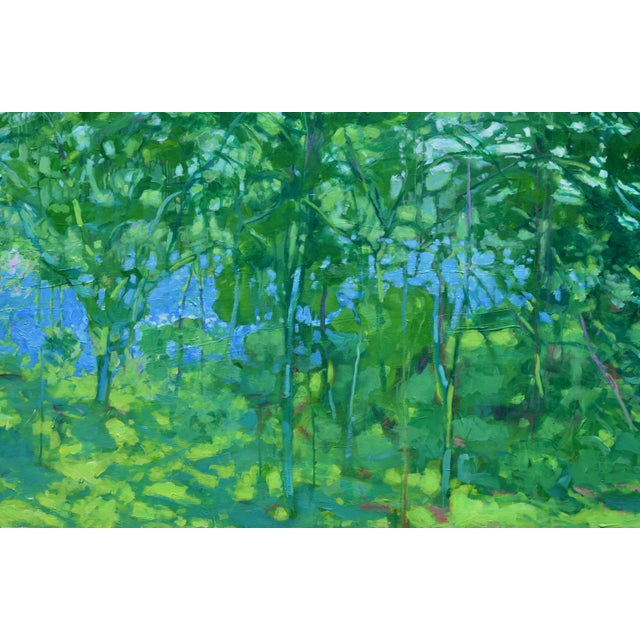 "Contemporary ""A Midsummer Day's Dream"" Large (32"" X 80"") Contemporary Painting by Stephen Remick For Sale - Image 3 of 11"