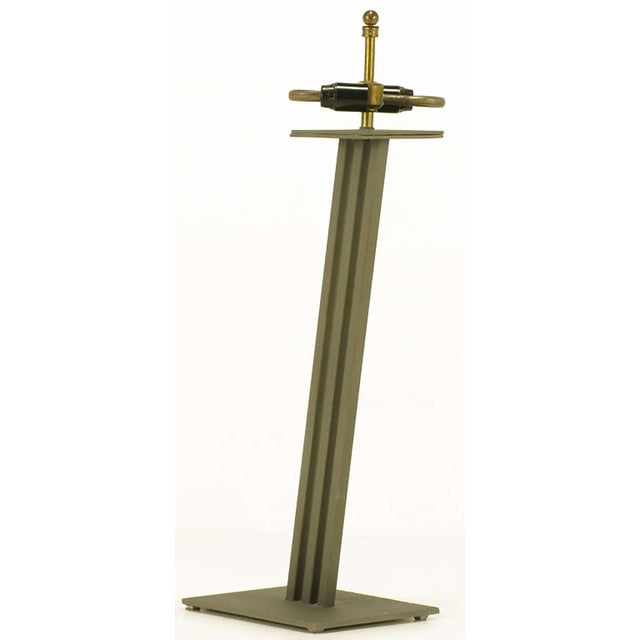 Postmodern Memphis-Style Angled Metal Table Lamp For Sale - Image 4 of 5