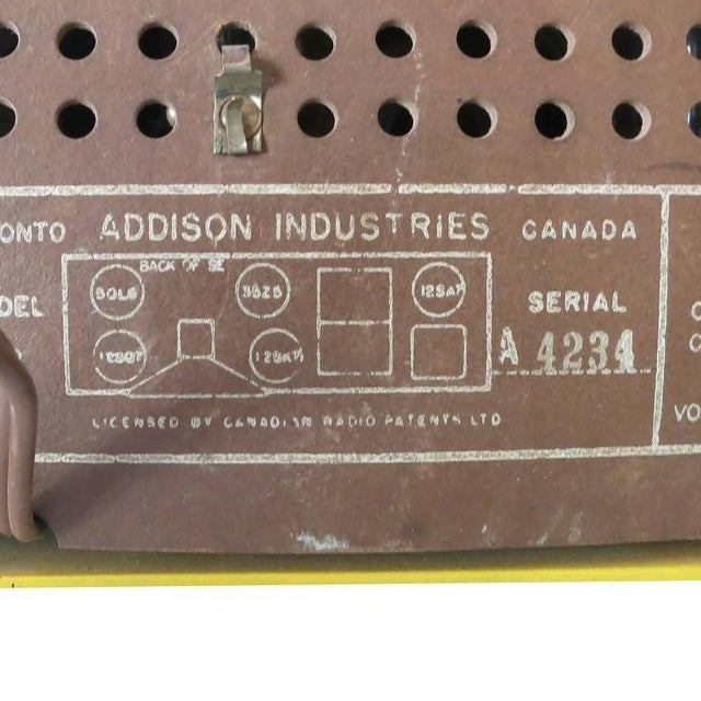 """Addison Model Two """"Waterfall"""" Red and Mustard Catalin Tube Radio For Sale In Los Angeles - Image 6 of 7"""